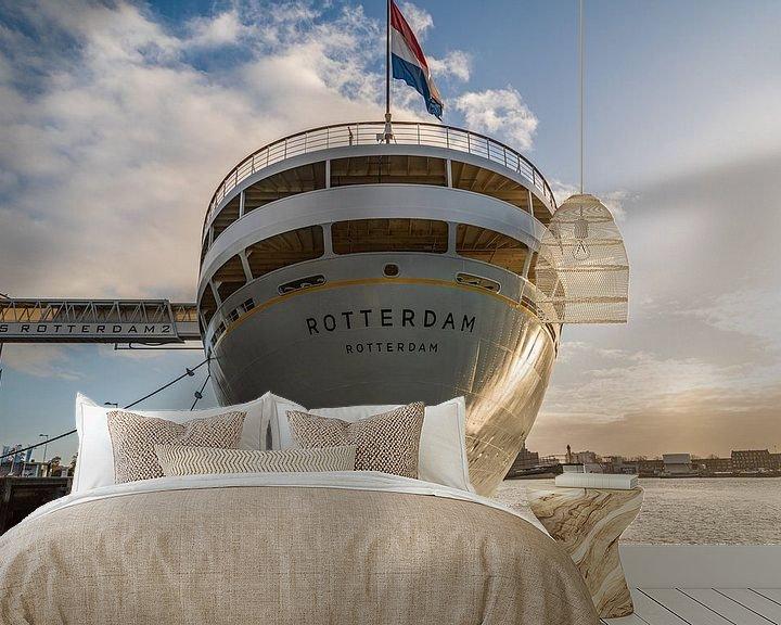 Sfeerimpressie behang: ss Rotterdam van Ingrid Aanen