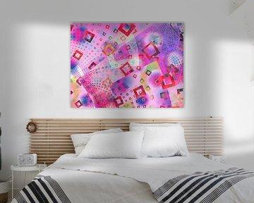 Infinito Pink - grafisches Muster von Claudia Gründler