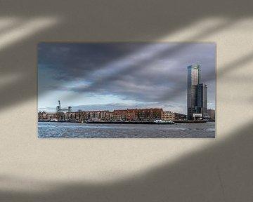 Rotterdam dunkler Himmel über Noordereiland von Ingrid Aanen