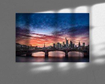 Skyline Frankfurt van Salke Hartung