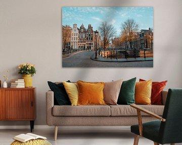 Keizersgracht Amsterdam sous le soleil d'automne sur Captured By Manon