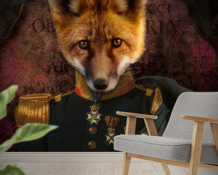 Sfeerimpressie behang: The Fox van Marja van den Hurk