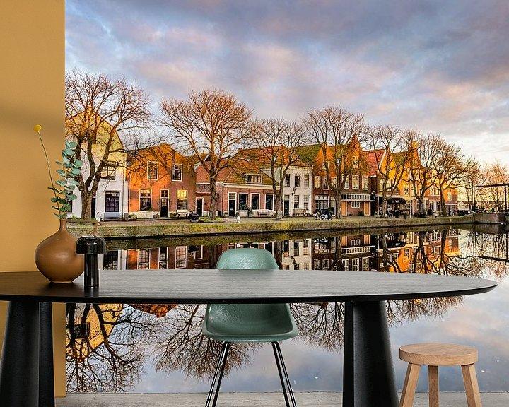 Sfeerimpressie behang: Spaarndam van Adriaan Westra