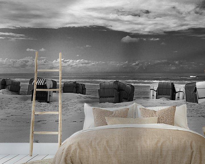 Sfeerimpressie behang: Strandstoelen van Johan Zwarthoed