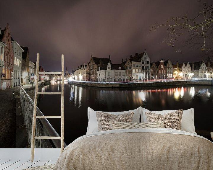 Beispiel fototapete: Das längste Wasser in der schönen Stadt Brügge von Marcel Derweduwen