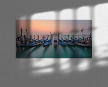 Gondels van Venetië van Robin Oelschlegel