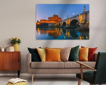 Zonsopkomst San Angelo Brug en Castel Sant Angelo van Henk Meijer Photography