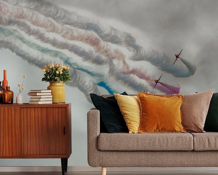 Sfeerimpressie behang: Red Arrow straaljagers van Mark Bolijn