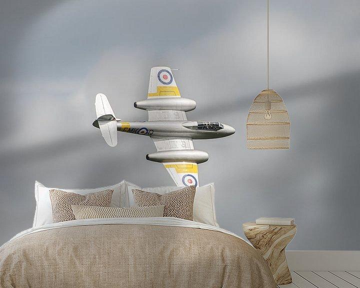 Sfeerimpressie behang: Straaljager van de RAF van Mark Bolijn