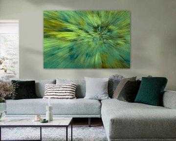 Grüne abstrakte Explosion.