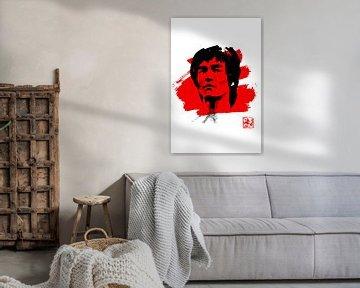 Bruce Lee in Weiß von philippe imbert