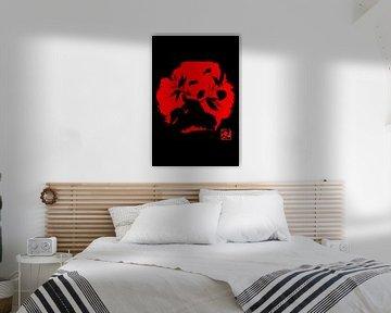 Panda in rot von philippe imbert