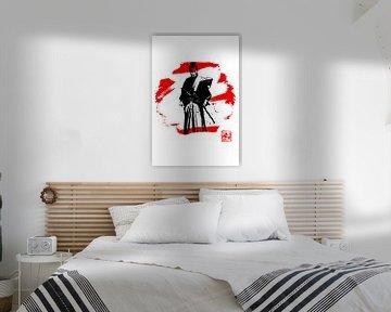 Samurai in rot und weiß von philippe imbert