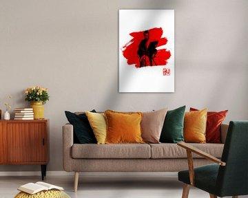 Samourai in rot von philippe imbert