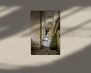 verlaten betonnen gang van Kristof Ven