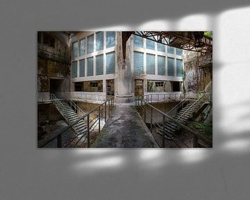 verlaten fabriekshal van Kristof Ven