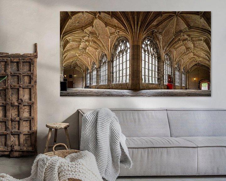 Sfeerimpressie: Gotische kloostergang, abdij Middelburg van Fotografiecor .nl