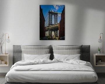 Manhattan Bridge - Empire Staatsgebäude New York von Martin Albers Photography