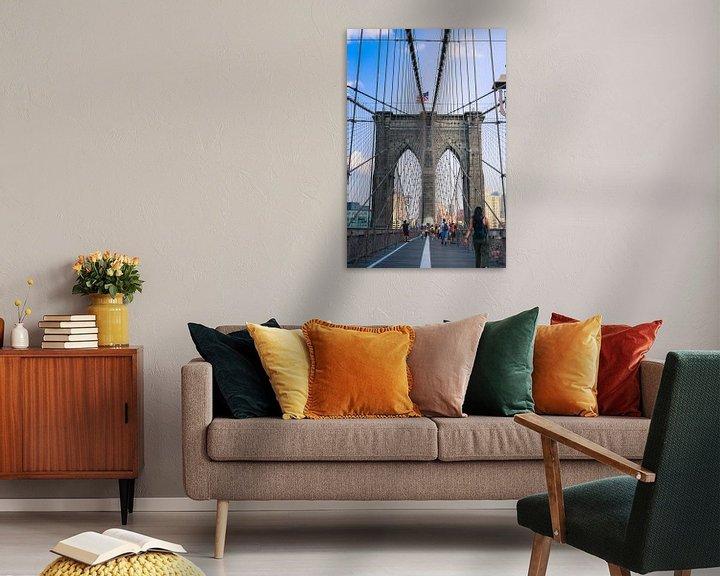 Sfeerimpressie: Brooklyn Bridge Manhattan New York city van Martin Albers Photography