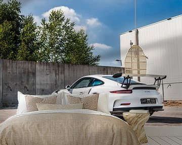 Wunderschöner weißer Porsche 911 GT3 RS von Bas Fransen