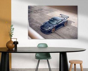 Belle Porsche GT2 RS sur le circuit du Hungaroring sur Bas Fransen