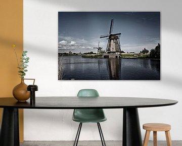 Oud Nederlands dorp Kinderdijk, UNESCO werelderfgoed. Nederland, Europa. van Tjeerd Kruse