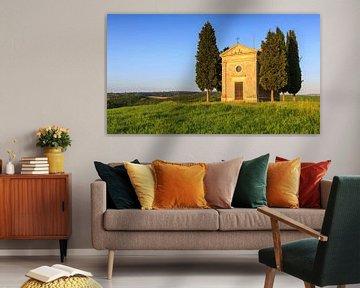 Kapel Madonna di Vitaleta, Toscane, Italië