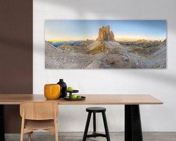 Drei Zinnen und Paternsattel Panorama von Michael Valjak