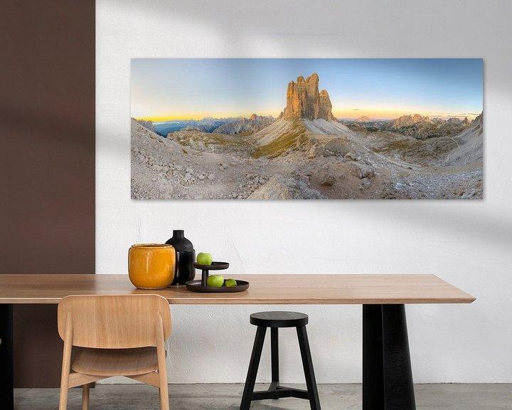 Sfeerimpressie: Tre Cime di Lavaredo en Paternsattel Panorama van Michael Valjak