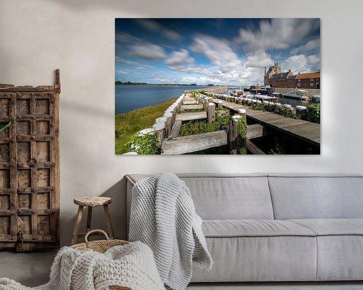 Sfeerimpressie: Havenhoofd pier van Veere, Walcheren, Zeeland van Fotografiecor .nl