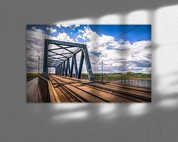 HDR van de Fietsbrug over de IJssel in Deventer Overijssel van Bart Ros