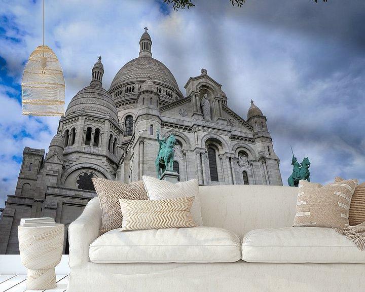 Sfeerimpressie behang: Sacré-Cœur Parijs van Martin Albers Photography