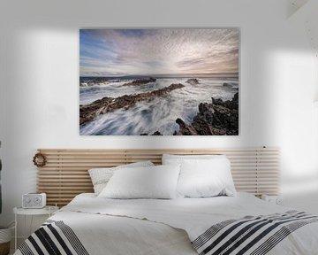 Wilde Küste im Abendlicht von Ralf Lehmann