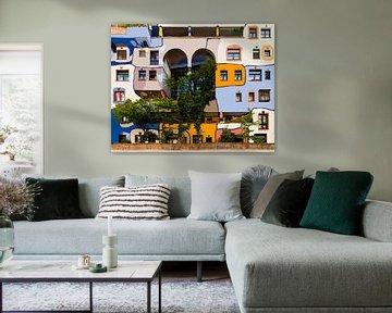 Hundertwasserhaus       Würdigung von Fr. Hundertwasser von Maarten Visser
