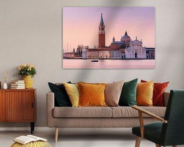 Zonsopkomst San Giorgio Maggiore, Venetië, Italië