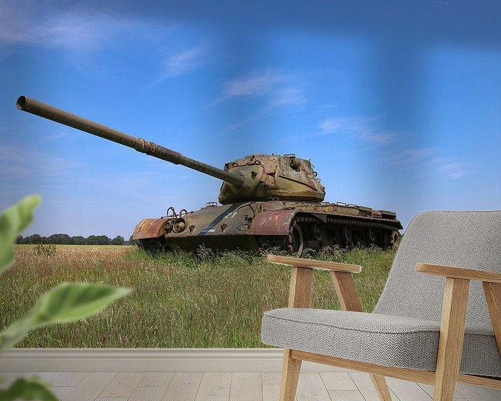 Sfeerimpressie behang: M47 Patton leger tank kleur van Martin Albers Photography