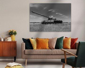 M47 Patton Armeepanzer schwarz weiß 2 von Martin Albers Photography