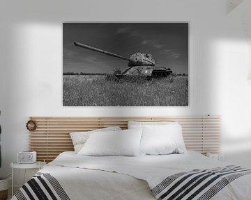 M47 Patton Armeepanzer schwarz weiß 3 von Martin Albers Photography
