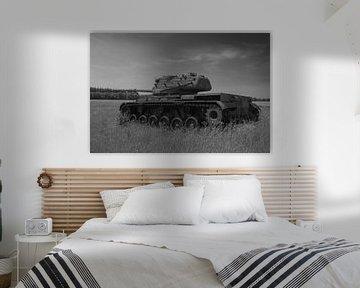 M47 Patton Armeepanzer schwarz weiß 5 von Martin Albers Photography