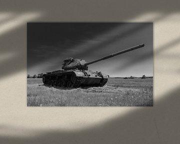 M47 Patton leger tank zwart wit 6 van Martin Albers Photography
