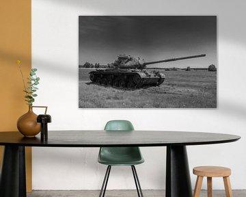 M47 Patton Armeepanzer schwarz weiß 7 von Martin Albers Photography
