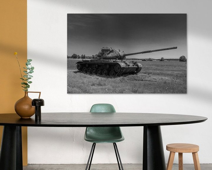 Sfeerimpressie: M47 Patton leger tank zwart wit 7 van Martin Albers Photography