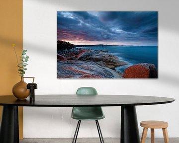 Bay of Fires - Sonnenuntergang - Tasmanien von Jiri Viehmann