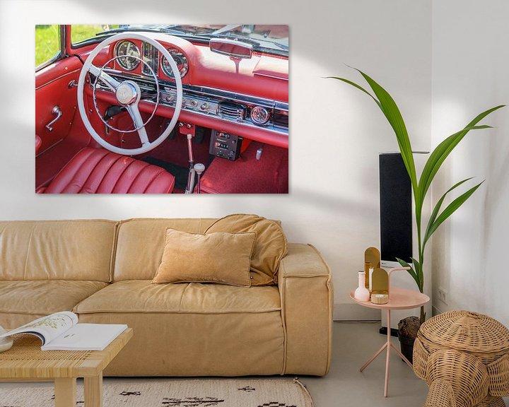 Beispiel: Mercedes 300 SL Roadster Klassiker Cabriolet Sportwagen Interieur von Sjoerd van der Wal