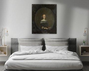 Porträt einer Frau, Gerard ter Borch (II), 1640 - 1681
