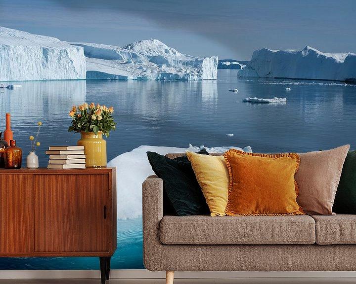 Sfeerimpressie behang: Magic of ice van Ralph Rozema