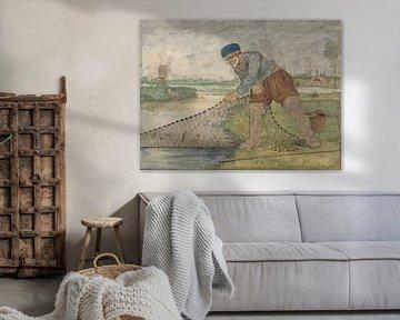 Fischer beim Sammeln seines Netzes, Hendrick Avercamp, 1595 - 1634