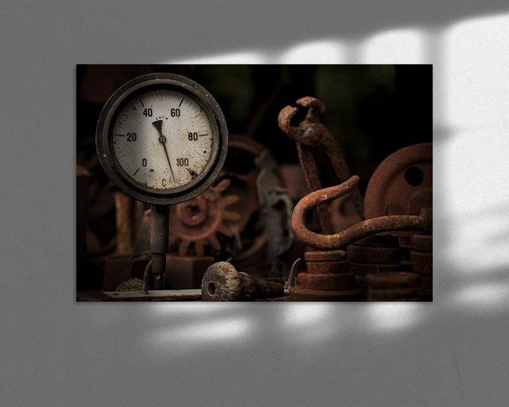 Sfeerimpressie: Industrieel ijzer, roest en gereedschap. van Paul Wendels