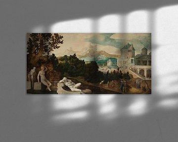Landschaft mit Bathseba, Jan van Scorel, um 1540 - um 1545