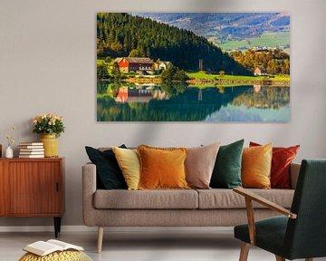 Bergheimsvatnet, Gloppen, Sogn og Fjordane, Noorwegen